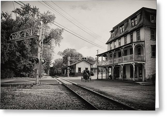 The Station At Reinhold's Inn Greeting Card by Bill Cannon