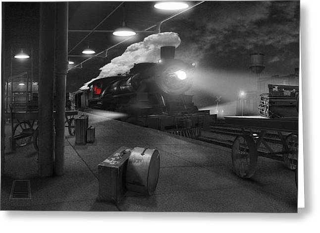 The Station - Panoramic Greeting Card by Mike McGlothlen