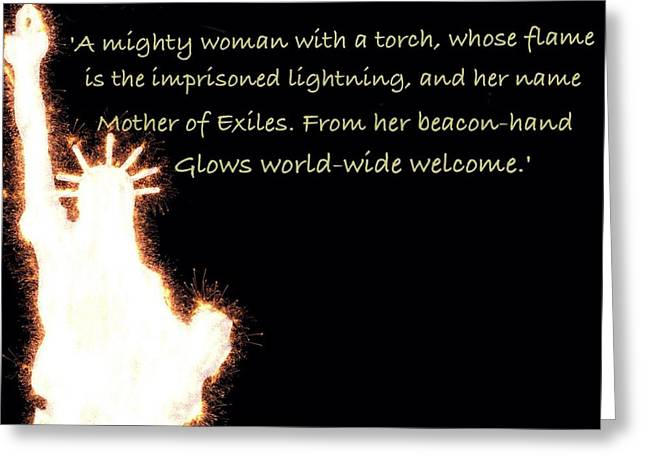 A Mighty Woman The Statue Of Liberty Greeting Card