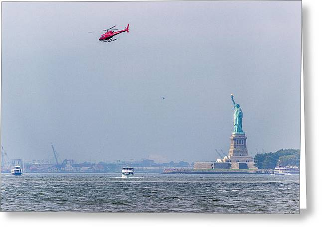 The Statue Of Liberty Greeting Card