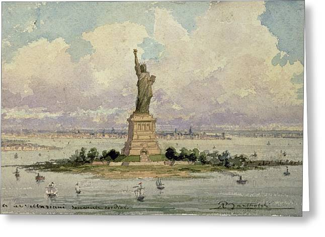 The Statue Of Liberty  Greeting Card by Frederic Auguste Bartholdi