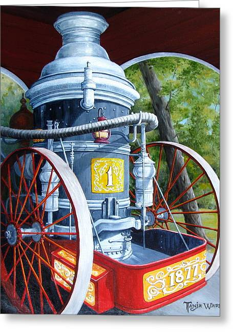 The Steamer Greeting Card by Tanja Ware