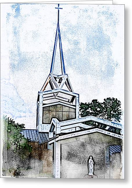 Greeting Card featuring the digital art The Steeple by Davina Washington