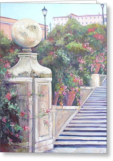 The Steps In Colour Greeting Card by Kathy  Karas