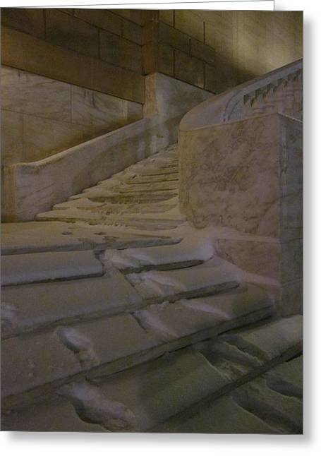 The Steps Out Of Sight Greeting Card by Guy Ricketts