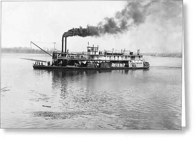 The Sternwheeler lightwood Greeting Card by Underwood Archives