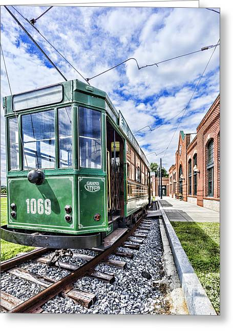 The Stib 1069 Streetcar At The National Capital Trolley Museum I Greeting Card