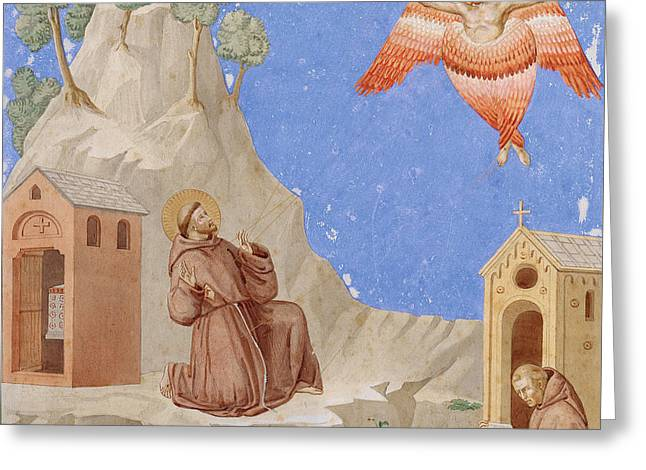 The Stigmatisation Of Saint Francis Greeting Card