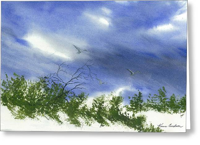 The Still Of Shore Greeting Card by Karen  Condron