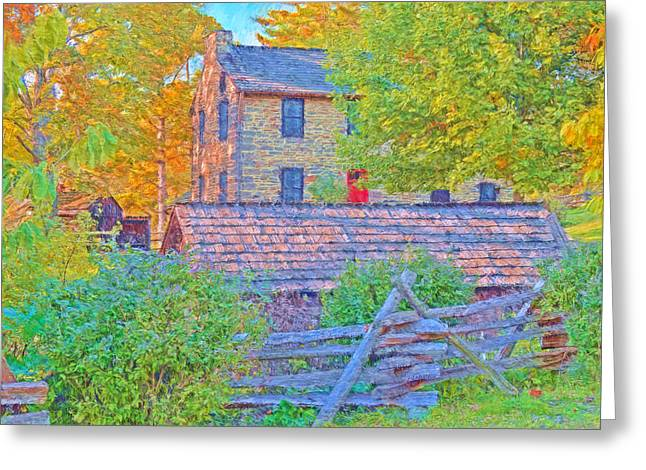The Stone House At The Oliver Miller Homestead / Late Afternoon  Greeting Card