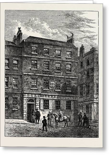 The Stone House Knightrider Street. From A Print In The Greeting Card by English School