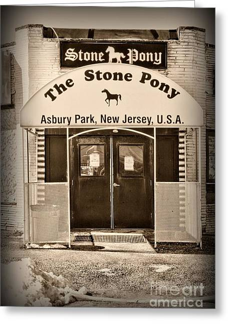 The Stone Pony Retro Greeting Card by Paul Ward
