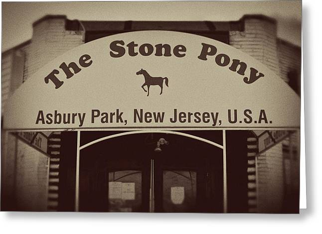 The Stone Pony Vintage Asbury Park New Jersey Greeting Card by Terry DeLuco