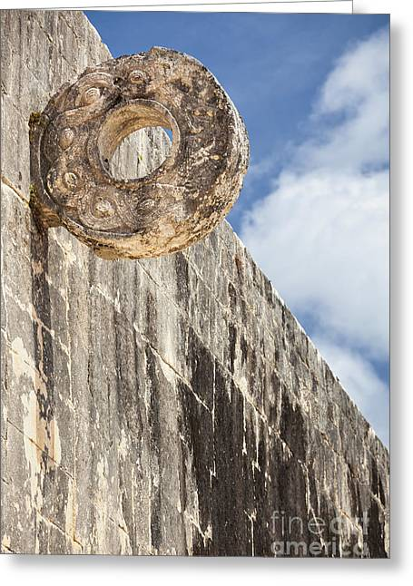 The Stone Ring At The Great Mayan Ball Court Of Chichen Itza Greeting Card