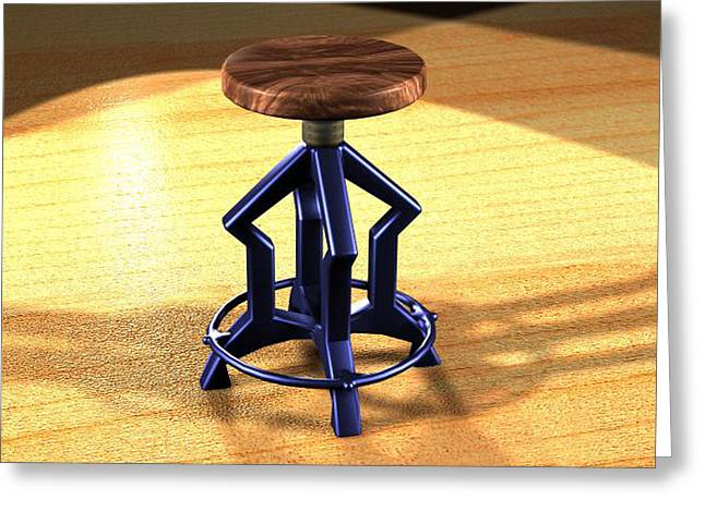 The Stool Twin Greeting Card by Giuseppe Epifani