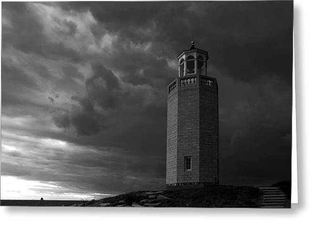 The Storm Approaches Greeting Card by David Freuthal