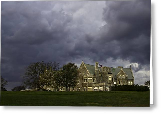 The Storm Threatens Greeting Card by David Freuthal
