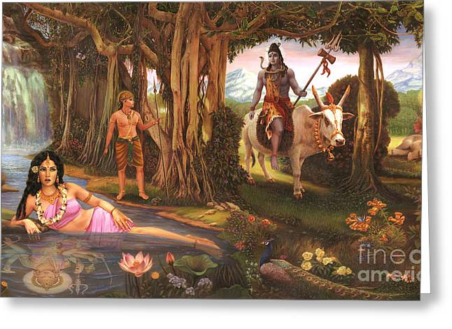 The Story Of Ganesha Greeting Card