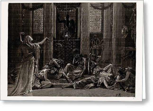 The Story Of Orestes, At The Princes Hall Greeting Card