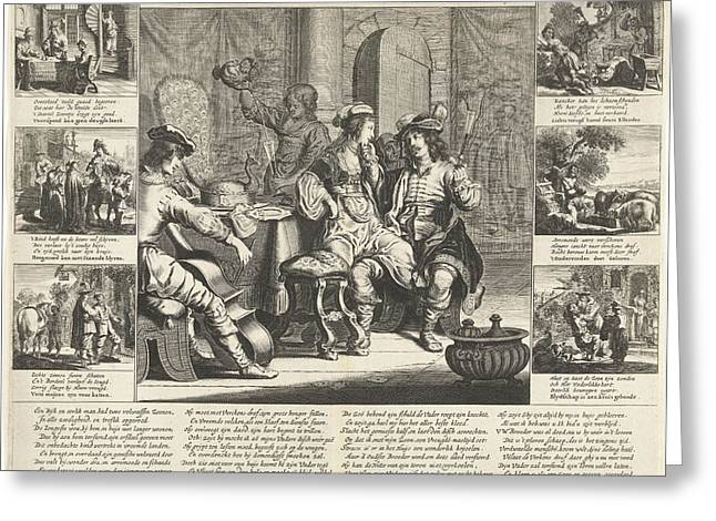The Story Of The Prodigal Son, Cornelis Van Dalen Greeting Card