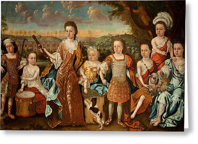 The Strachey Family, C.1710 Greeting Card by English School