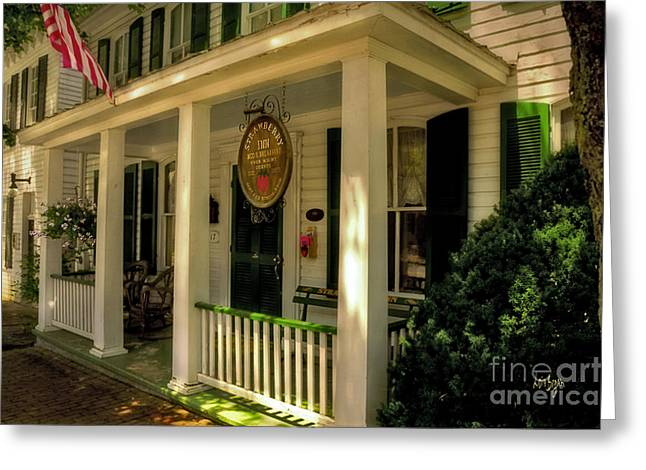 The Strawberry Inn Greeting Card by Lois Bryan