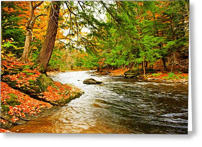 The Stream Greeting Card by Bill Howard