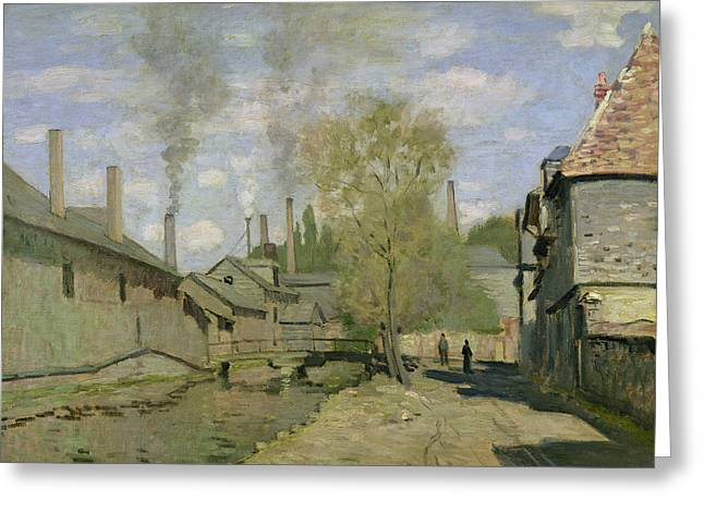 The Stream Of Robec At Rouen, 1872 Greeting Card by Claude Monet
