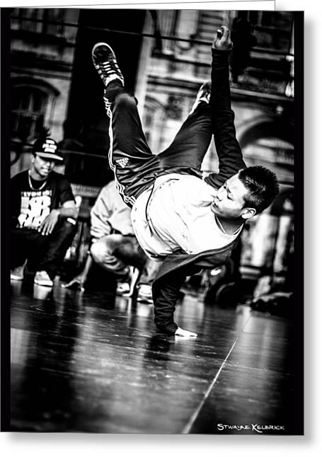 Greeting Card featuring the photograph The Street Dancer by Stwayne Keubrick