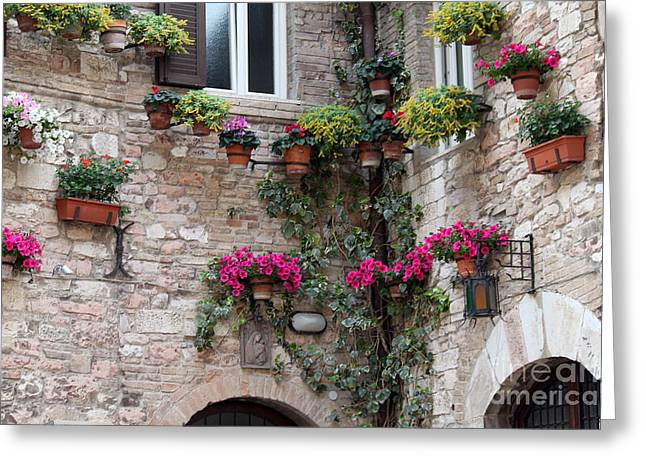 The Streets Of Assisi 2 Greeting Card