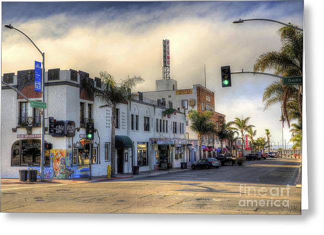 The Streets Of Pismo Beach Greeting Card
