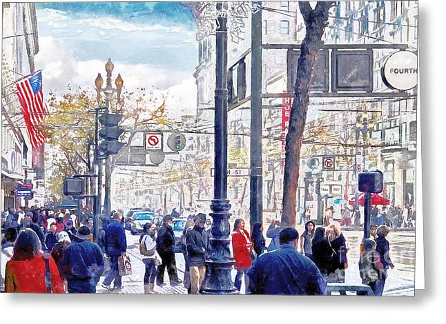 The Streets Of San Francisco 7d4268 Greeting Card by Wingsdomain Art and Photography