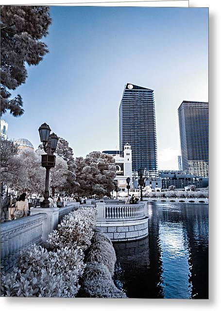 The Strip In Infrared Greeting Card