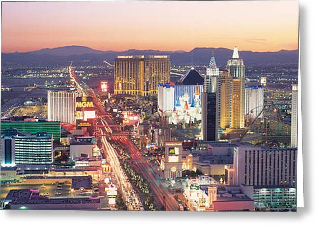 The Strip Las Vegas Nv Usa Greeting Card by Panoramic Images