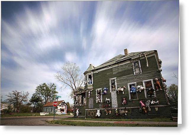 The Stuffed Animal Doll House At The Heidelberg Project - Detroit Michigan Greeting Card
