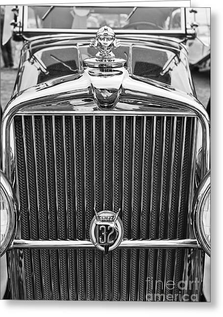 The Stutz Classic Car Front End At The Concours D Elegance. Greeting Card by Jamie Pham