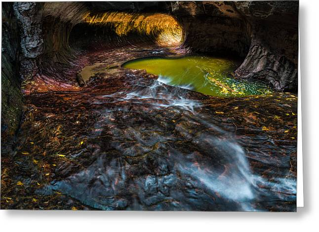 The Subway At Zion National Park Greeting Card by Larry Marshall