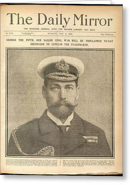 The Succession Of George V Greeting Card