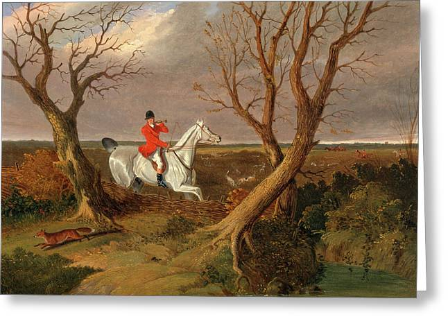 The Suffolk Hunt Gone Away The Suffolk Hunt - Gone Away Greeting Card