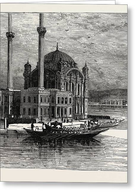 The Sultan At The Mosque Of St. Sophia Greeting Card by Litz Collection