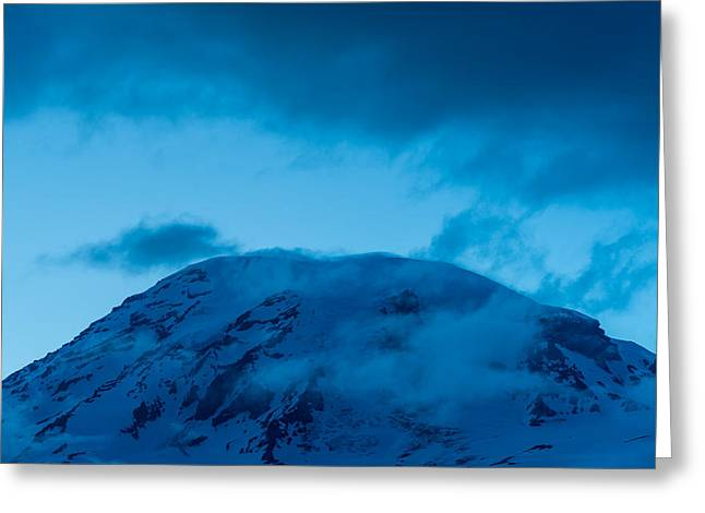 The Summit Mt Rainier Greeting Card by Steve Gadomski
