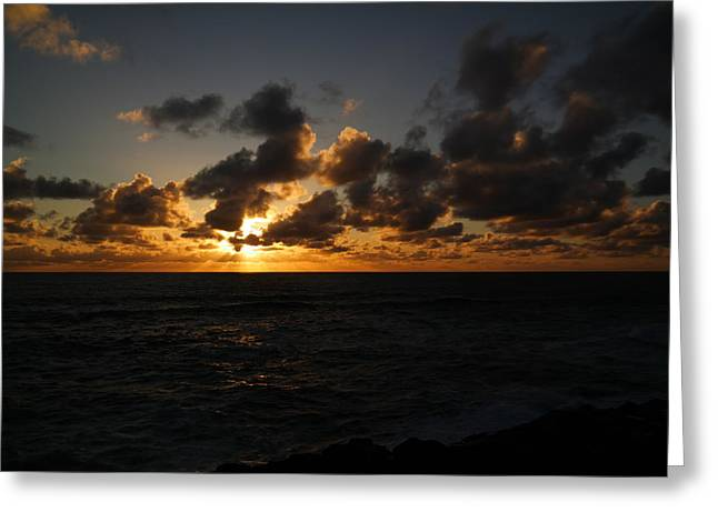 The Sun And Ocean Greeting Card by Jeff Swan