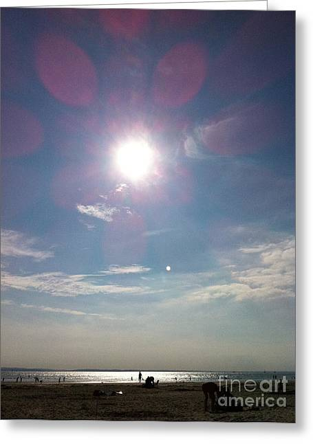 The Sun And The Moon - Witterings Sussex England Greeting Card
