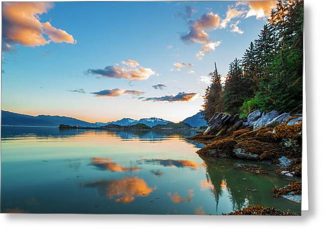 The Sun Colors The Clouds Pink Greeting Card by Zachary Sheldon