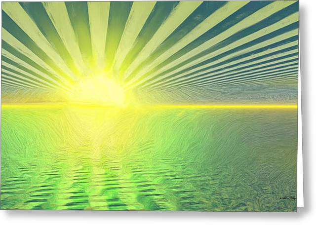 The Sun Goes Up And The Sun Goes Down Greeting Card by Wayne Bonney