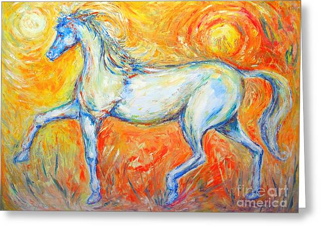 The Sun Horse Greeting Card by Frederick  Luff