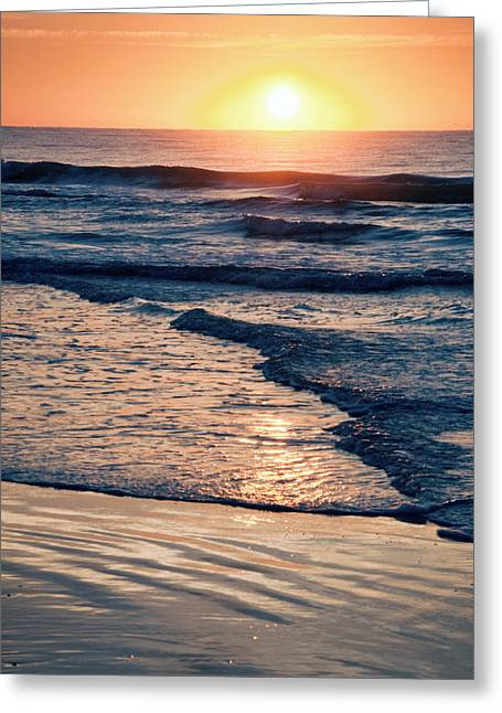 Sun Rising Over The Beach Greeting Card by Vizual Studio