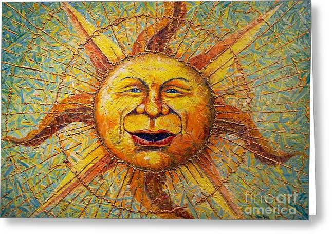 The Sun King Greeting Card