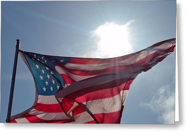 The Sun Of America 2 Greeting Card by Sheldon Blackwell
