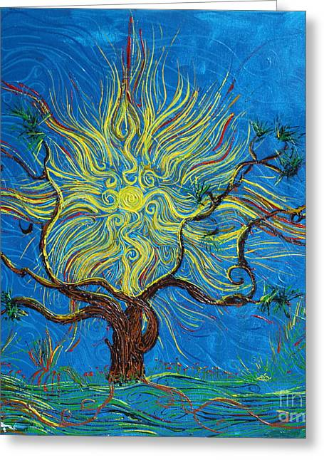 The Sun Tree Greeting Card by Stefan Duncan